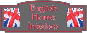 english home interiors signage
