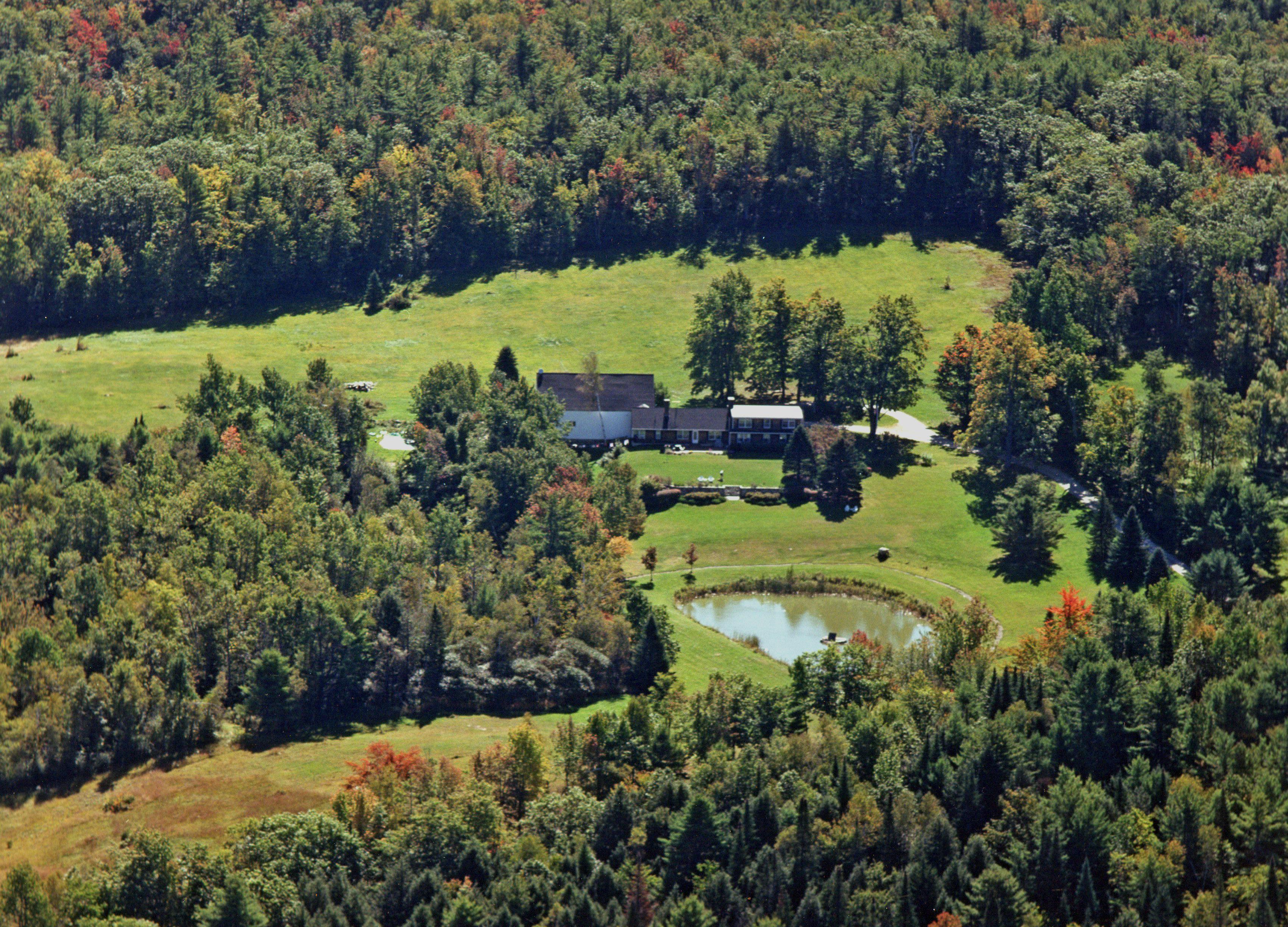Peacock Hill Farm arial