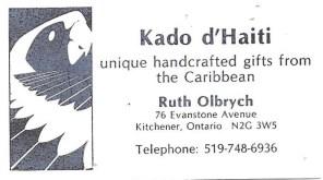 first business card